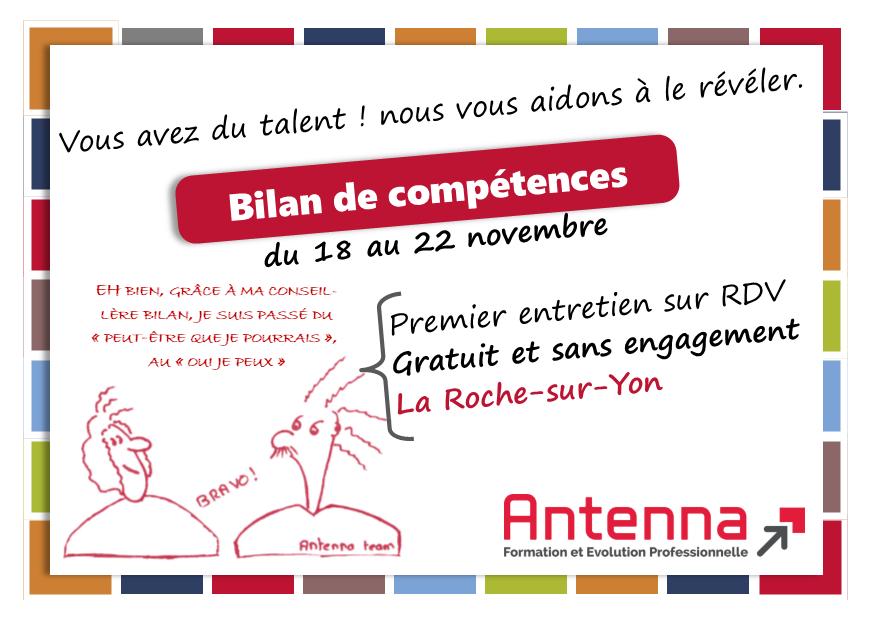 Bilan de compétences Antenna la Roche-sur-Yon